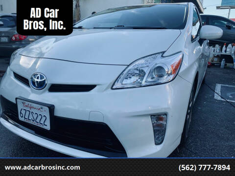 2013 Toyota Prius for sale at AD Car Bros, Inc. in Whittier CA