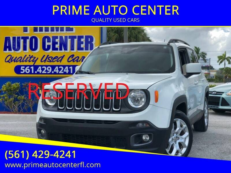 2016 Jeep Renegade for sale at PRIME AUTO CENTER in Palm Springs FL