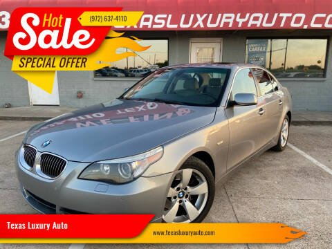 2007 BMW 5 Series for sale at Texas Luxury Auto in Cedar Hill TX