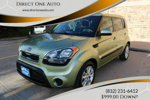 2012 Kia Soul for sale at Direct One Auto in Houston TX