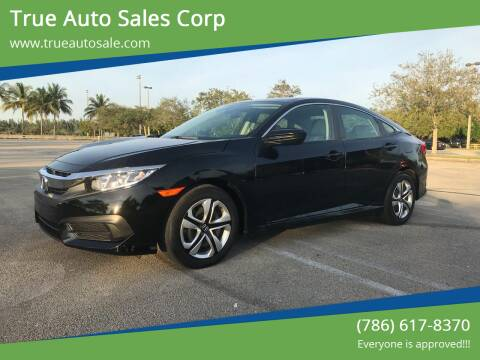 2017 Honda Civic for sale at True Auto Sales Corp in Miami FL