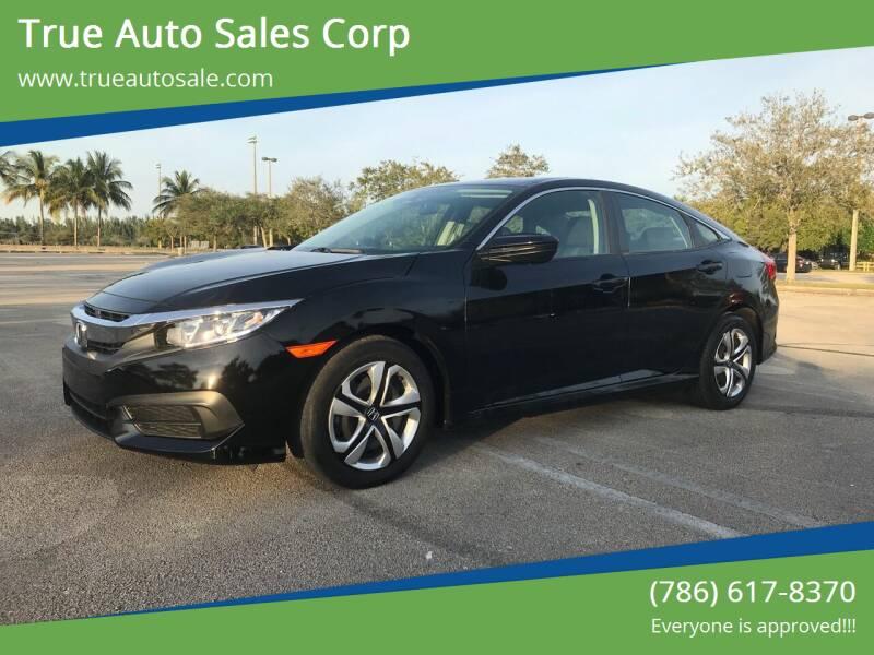 2017 Honda Civic for sale at True Auto Sales Corp in Miami FL