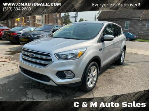 2017 Ford Escape for sale at C & M Auto Sales in Detroit MI
