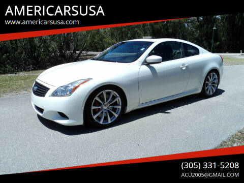 2010 Infiniti G37 Coupe for sale at Americarsusa in Hollywood FL