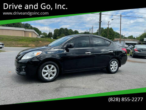 2014 Nissan Versa for sale at Drive and Go, Inc. in Hickory NC