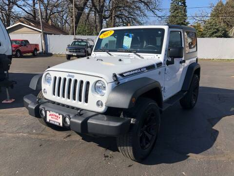 2017 Jeep Wrangler for sale at Jeffrey Motors in Kenosha WI