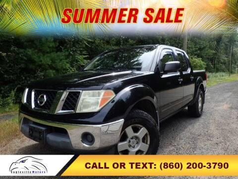 2005 Nissan Frontier for sale at EAGLEVILLE MOTORS LLC in Storrs Mansfield CT