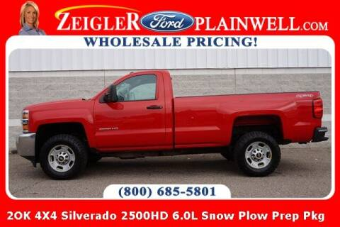 2015 Chevrolet Silverado 2500HD for sale at Zeigler Ford of Plainwell- Jeff Bishop in Plainwell MI