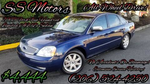 2005 Ford Five Hundred for sale at SS MOTORS LLC in Edmonds WA