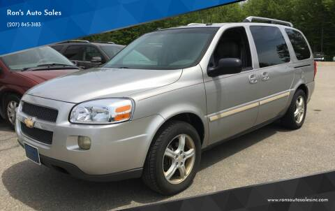 2005 Chevrolet Uplander for sale at Ron's Auto Sales in Washington ME