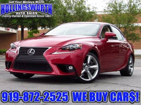 2015 Lexus IS 350 for sale at Hollingsworth Auto Sales in Raleigh NC