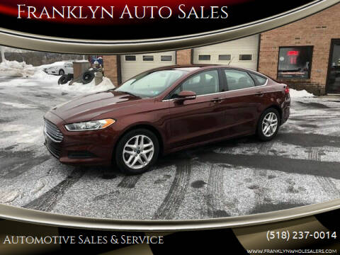 2016 Ford Fusion for sale at Franklyn Auto Sales in Cohoes NY