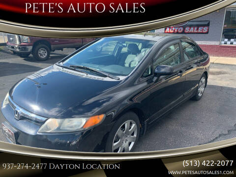 2008 Honda Civic for sale at PETE'S AUTO SALES - Dayton in Dayton OH