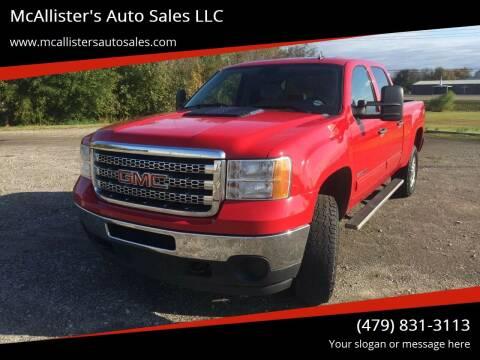 2013 GMC Sierra 2500HD for sale at McAllister's Auto Sales LLC in Van Buren AR