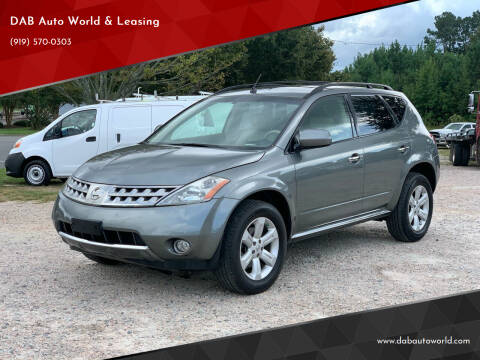 2007 Nissan Murano for sale at DAB Auto World & Leasing in Wake Forest NC