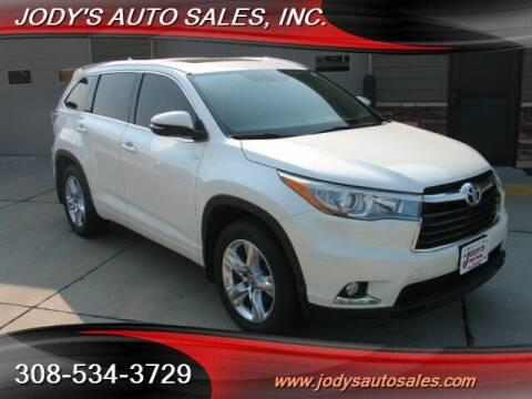 2016 Toyota Highlander for sale at Jody's Auto Sales in North Platte NE