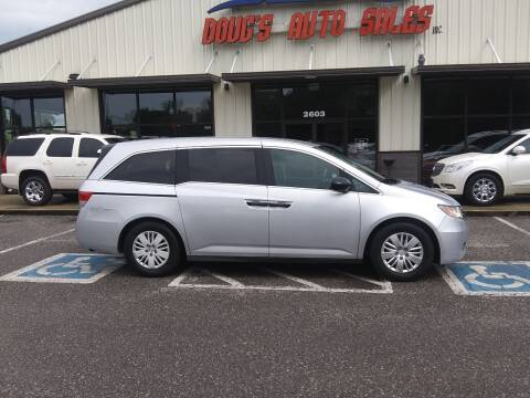 2014 Honda Odyssey for sale at DOUG'S AUTO SALES INC in Pleasant View TN