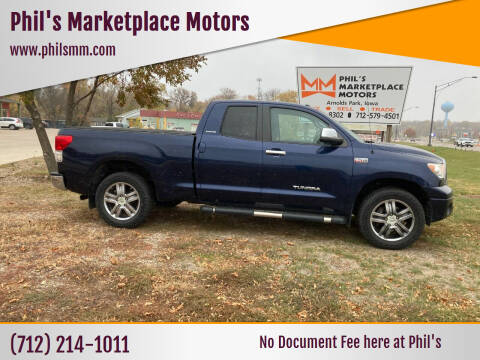 2012 Toyota Tundra for sale at Phil's Marketplace Motors in Arnolds Park IA
