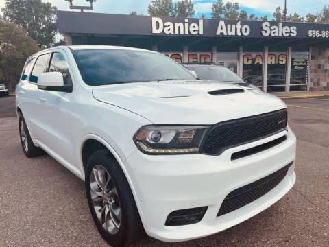 2019 Dodge Durango for sale at Daniel Auto Sales inc in Clinton Township MI