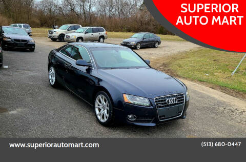 2012 Audi A5 for sale at SUPERIOR AUTO MART in Amelia OH