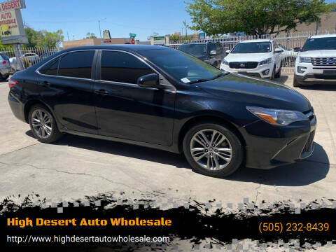 2016 Toyota Camry for sale at High Desert Auto Wholesale in Albuquerque NM