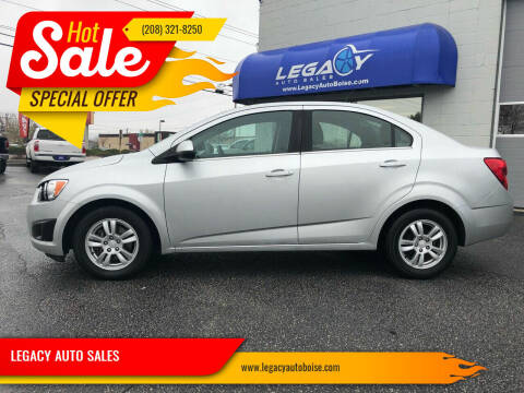 2013 Chevrolet Sonic for sale at LEGACY AUTO SALES in Boise ID