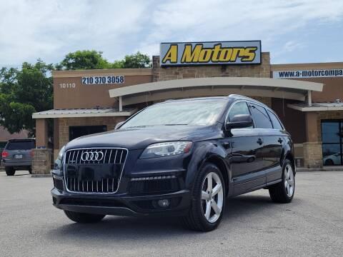 2012 Audi Q7 for sale at A MOTORS SALES AND FINANCE - 10110 West Loop 1604 N in San Antonio TX