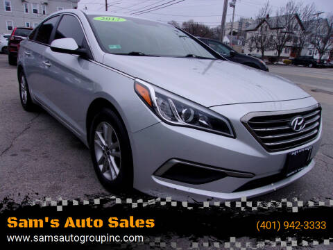 2017 Hyundai Sonata for sale at Sam's Auto Sales in Cranston RI