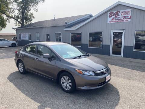 2012 Honda Civic for sale at B & B Auto Sales in Brookings SD