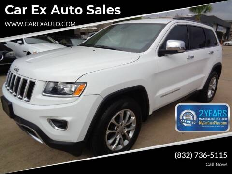 2015 Jeep Grand Cherokee for sale at Car Ex Auto Sales in Houston TX
