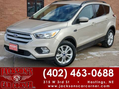 2018 Ford Escape for sale at Jacksons Car Corner Inc in Hastings NE