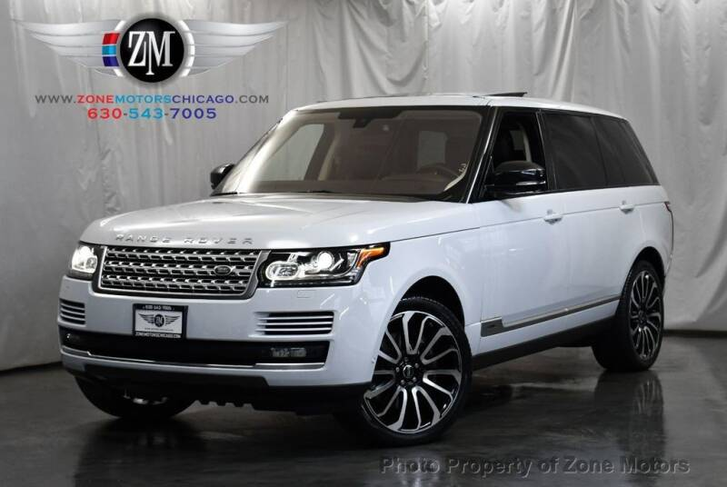 2015 Land Rover Range Rover for sale at ZONE MOTORS in Addison IL