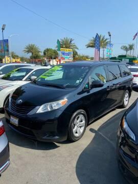 2015 Toyota Sienna for sale at 2955 FIRESTONE BLVD - 3271 E. Firestone Blvd Lot in South Gate CA