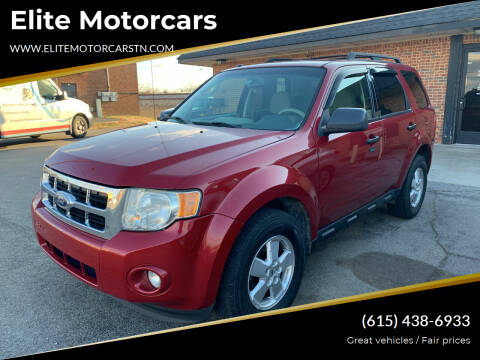 2010 Ford Escape for sale at Elite Motorcars in Smyrna TN