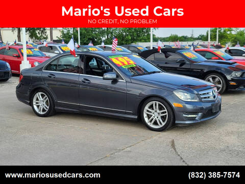 2013 Mercedes-Benz C-Class for sale at Mario's Used Cars in Houston TX
