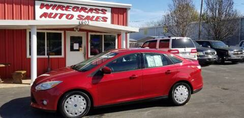 2012 Ford Focus for sale at WIREGRASS AUTO SALES in Dothan AL