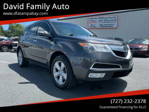 2011 Acura MDX for sale at David Family Auto in New Port Richey FL