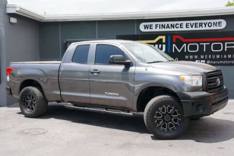 2012 Toyota Tundra for sale at Meru Motors in Hollywood FL