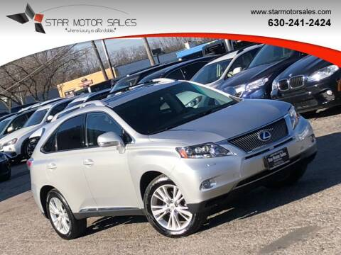 2010 Lexus RX 450h for sale at Star Motor Sales in Downers Grove IL