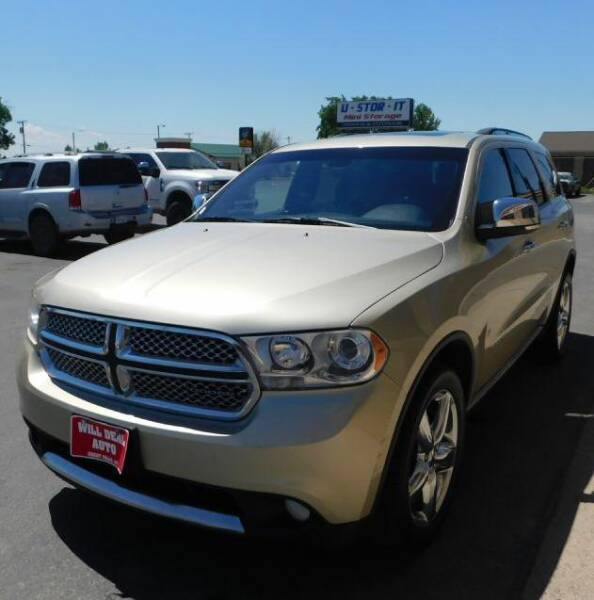 2012 Dodge Durango for sale at Will Deal Auto & Rv Sales in Great Falls MT
