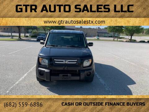 2007 Honda Element for sale at GTR Auto Sales LLC in Haltom City TX