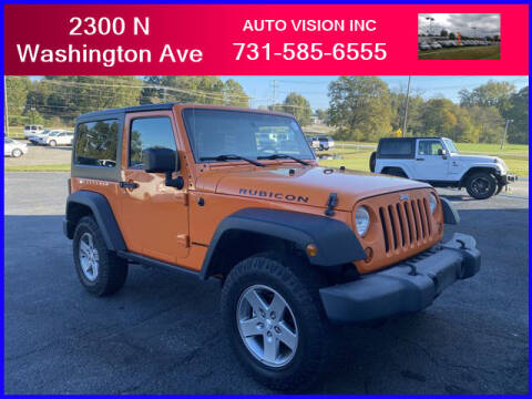 2012 Jeep Wrangler for sale at Auto Vision Inc. in Brownsville TN