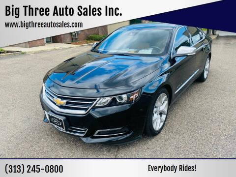 2014 Chevrolet Impala for sale at Big Three Auto Sales Inc. in Detroit MI
