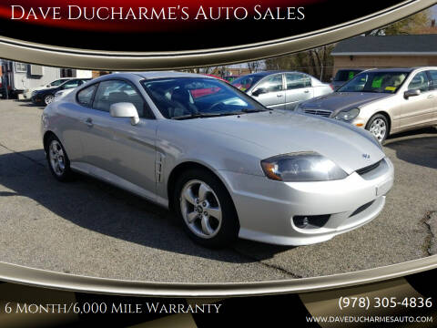 2006 Hyundai Tiburon for sale at Dave Ducharme's Auto Sales in Lowell MA