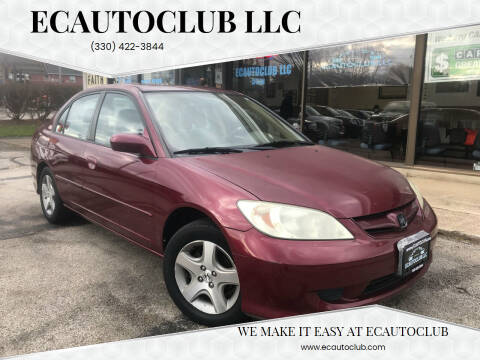 2004 Honda Civic for sale at ECAUTOCLUB LLC in Kent OH