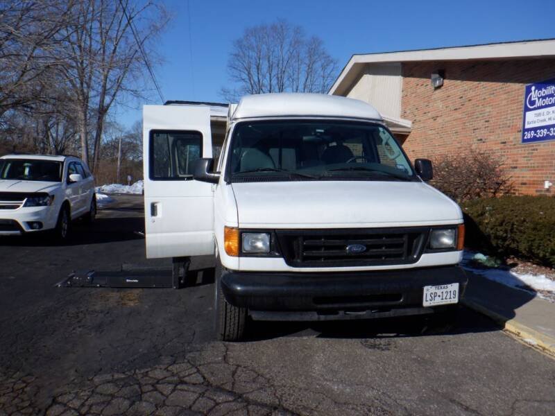 2006 Ford E-Series Wagon for sale at Mobility Motors LLC - A Wheelchair Van in Battle Creek MI