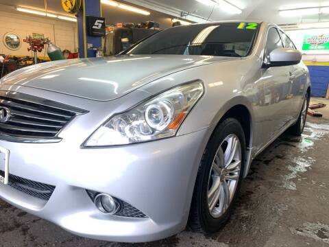 2012 Infiniti G25 Sedan for sale at PELHAM USED CARS & AUTOMOTIVE CENTER in Bronx NY