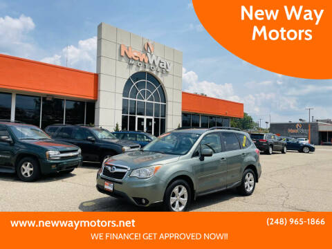 2014 Subaru Forester for sale at New Way Motors in Ferndale MI