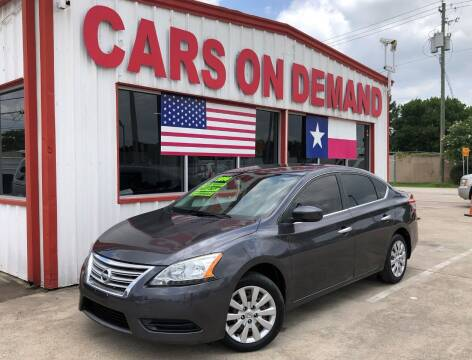 2014 Nissan Sentra for sale at Cars On Demand 2 in Pasadena TX