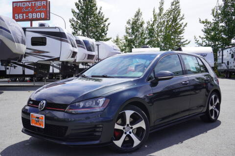 2015 Volkswagen Golf GTI for sale at Frontier Auto & RV Sales in Anchorage AK